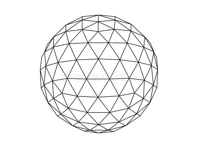 Geodesic sfery ilustracji wektor ilustracja wektor