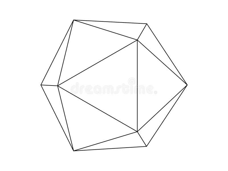 Geodesic sfery ilustracji wektor ilustracji