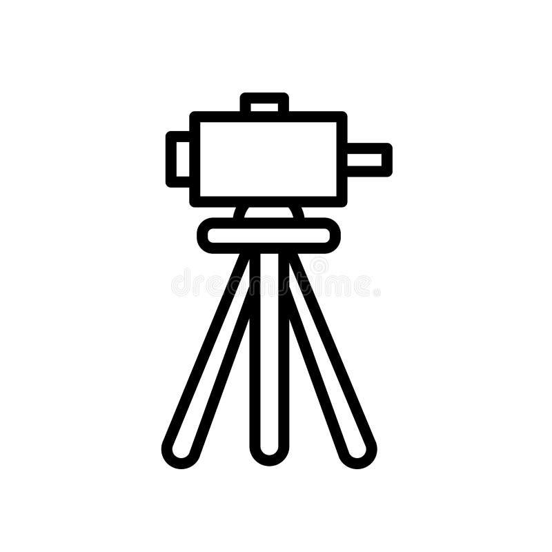 geodeta ikona odizolowywająca na białym tle ilustracja wektor