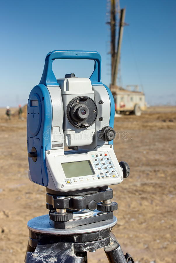 Geodetic device. stock images