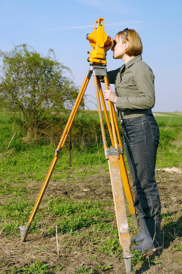 Geodetic survey stock photography