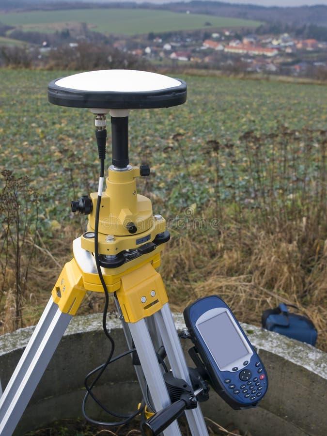 geodetiska gps arkivfoto