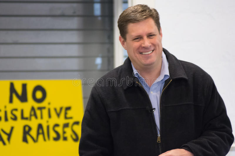 Geoff Diehl Laughs images libres de droits