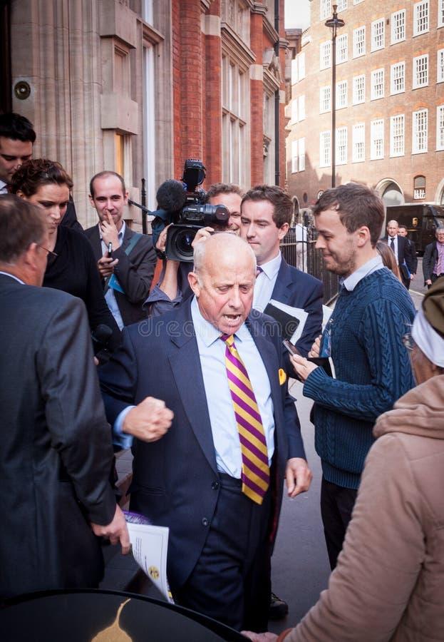 Geoffrey Bloom, Londres, 2013 imagem de stock royalty free