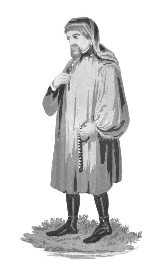 Geoffrey Chaucer foto de archivo libre de regalías