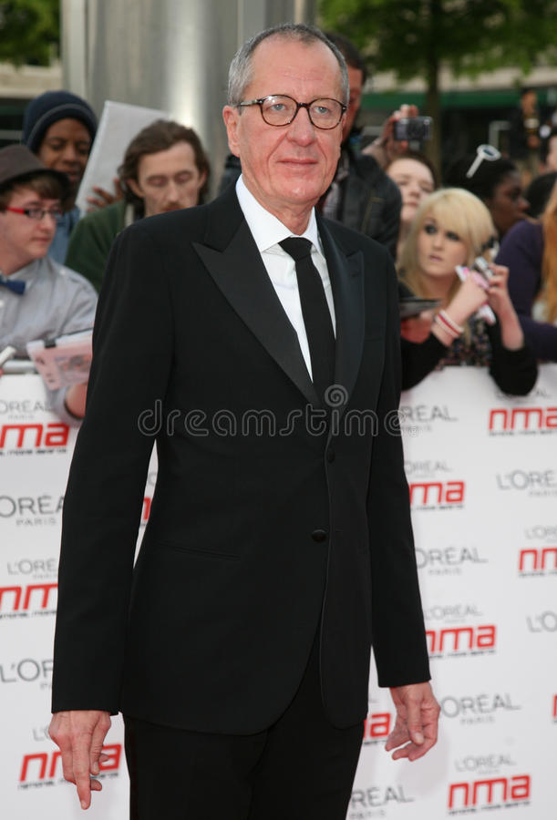 Geoffrey Rush. Arriving for the National Movie Awards 2011, at Wembley Arena, London. 11/05/2011 Picture By: Alexandra Glen / Featureflash stock photo