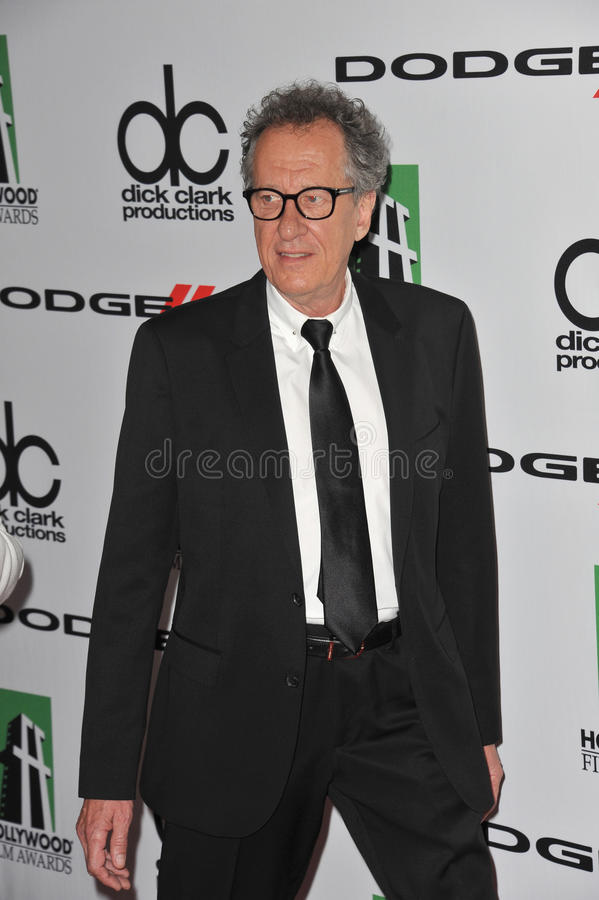 Geoffrey Rush. LOS ANGELES, CA - OCTOBER 13, 2013: Geoffrey Rush at the 17th Annual Hollywood Film Awards at the Beverly Hilton Hotel stock images
