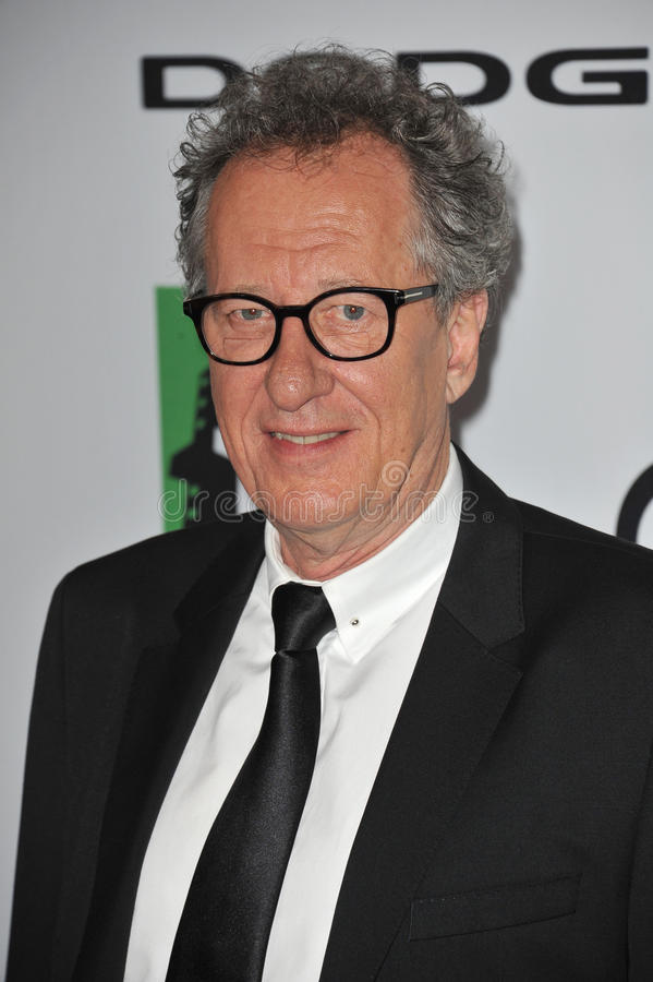 Geoffrey Rush. LOS ANGELES, CA - OCTOBER 13, 2013: Geoffrey Rush at the 17th Annual Hollywood Film Awards at the Beverly Hilton Hotel stock image