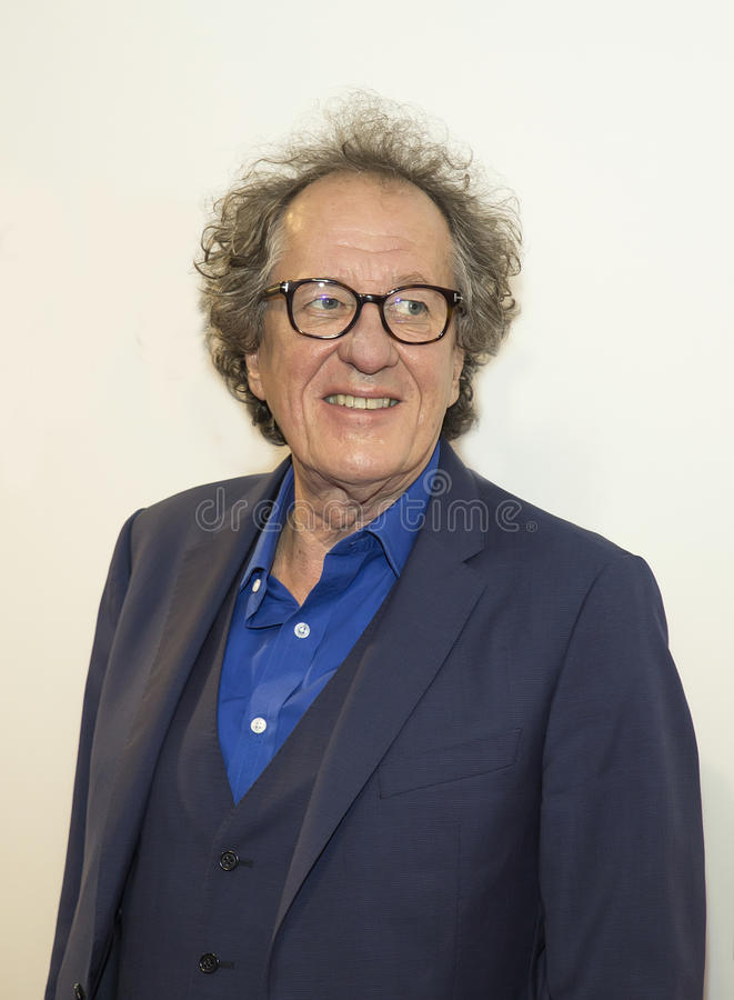 Geoffrey Rush. Oscar winner, Australian actor Geoffrey Rush arrives for the premiere of `Genius` at the 2017 Tribeca Film Festival on April 19, 2017. The stock photography