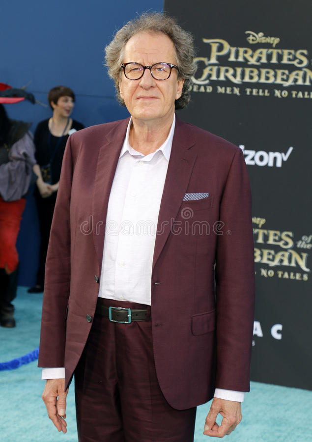 Geoffrey Rush. At the U.S. premiere of `Pirates Of The Caribbean: Dead Men Tell No Tales` held at the Dolby Theatre in Hollywood, USA on May 18, 2017 stock photography