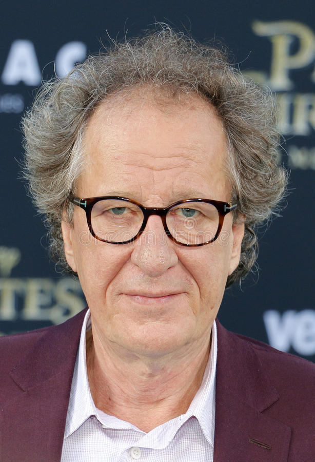 Geoffrey Rush. At the U.S. premiere of `Pirates Of The Caribbean: Dead Men Tell No Tales` held at the Dolby Theatre in Hollywood, USA on May 18, 2017 stock photo