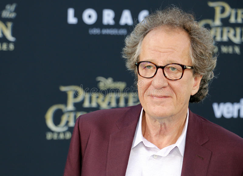 Geoffrey Rush. At the U.S. premiere of `Pirates Of The Caribbean: Dead Men Tell No Tales` held at the Dolby Theatre in Hollywood, USA on May 18, 2017 royalty free stock images