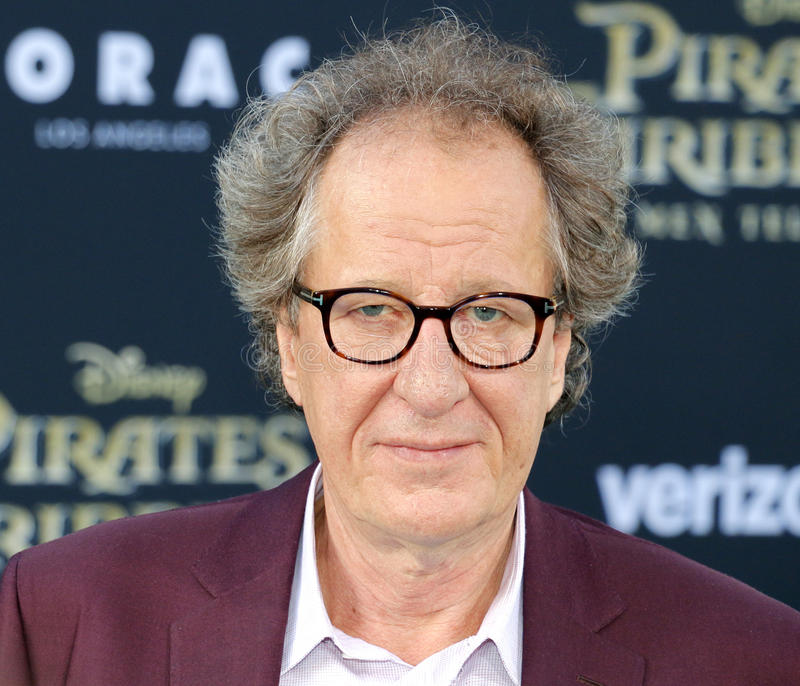 Geoffrey Rush. At the U.S. premiere of `Pirates Of The Caribbean: Dead Men Tell No Tales` held at the Dolby Theatre in Hollywood, USA on May 18, 2017 stock images