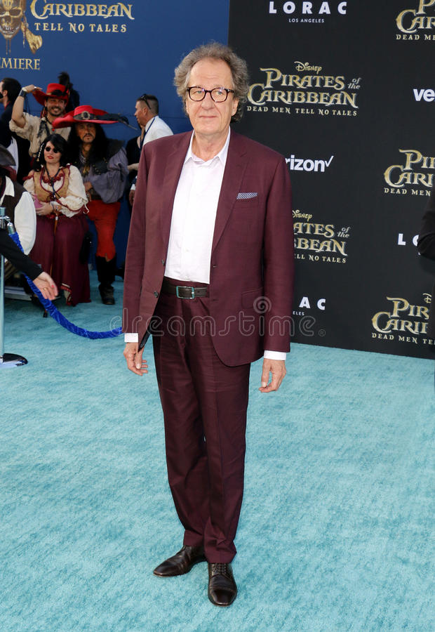 Geoffrey Rush. At the U.S. premiere of `Pirates Of The Caribbean: Dead Men Tell No Tales` held at the Dolby Theatre in Hollywood, USA on May 18, 2017 royalty free stock photo