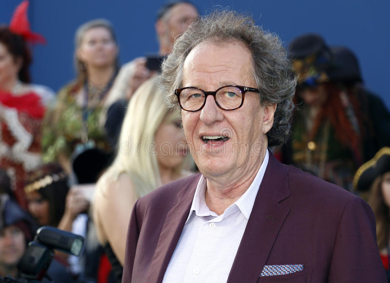 Geoffrey Rush. At the U.S. premiere of `Pirates Of The Caribbean: Dead Men Tell No Tales` held at the Dolby Theatre in Hollywood, USA on May 18, 2017 stock photos