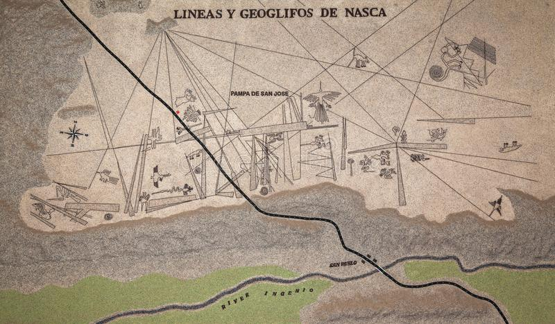 Geoglyphs de Nazca ilustração do vetor