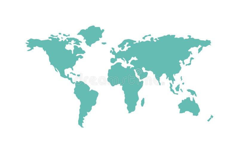 Geografía de los países del mapa del mundo libre illustration