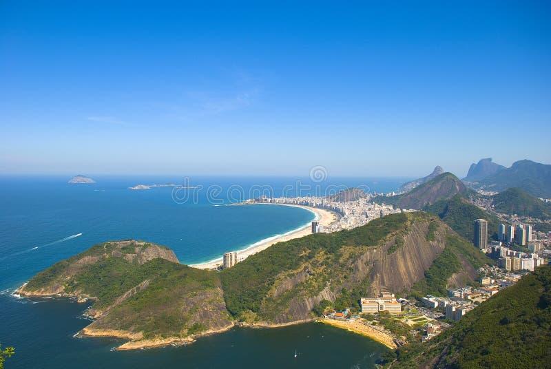 Geografia da zona sul de Rio imagem de stock