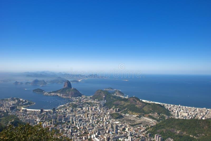 Geografia di Rio de Janeiro fotografia stock