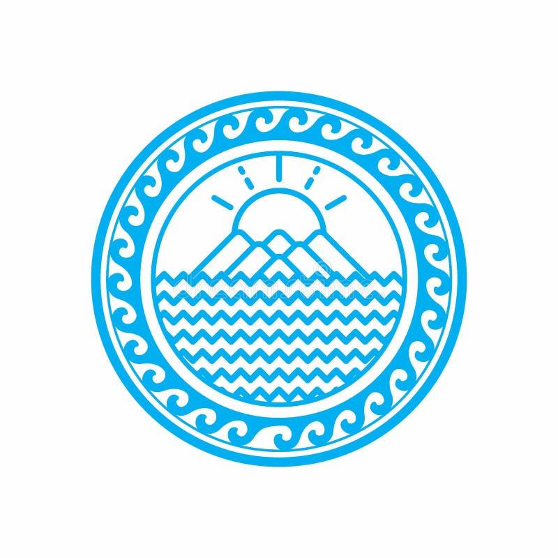 geografia Projeto do logotipo do vetor imagem de stock royalty free