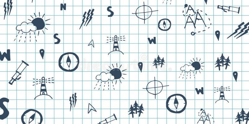 Geografia temat tylna tło do szkoły Edukacja sztandar ilustracja wektor