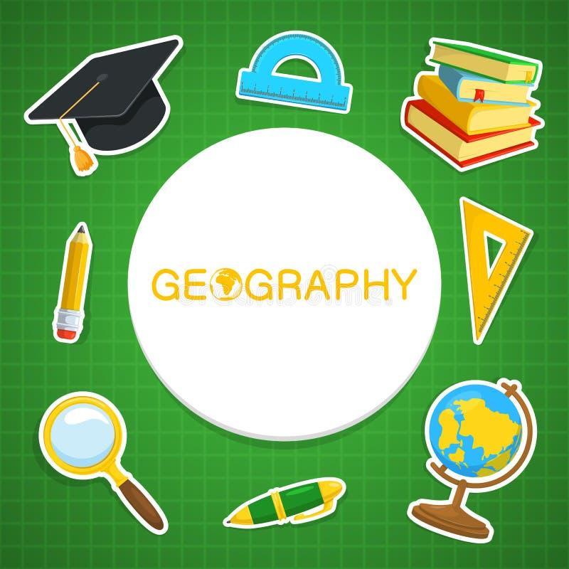 Geografibakgrund stock illustrationer