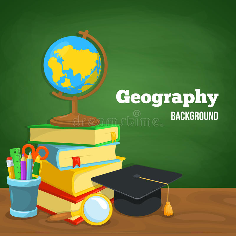 Geografibakgrund stock illustrationer