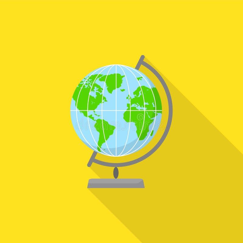 Geografii kuli ziemskiej ikona, mieszkanie styl royalty ilustracja