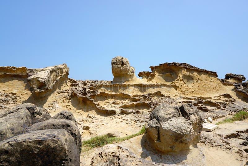 Geografisärdrag i Yehliu Geopark royaltyfria foton