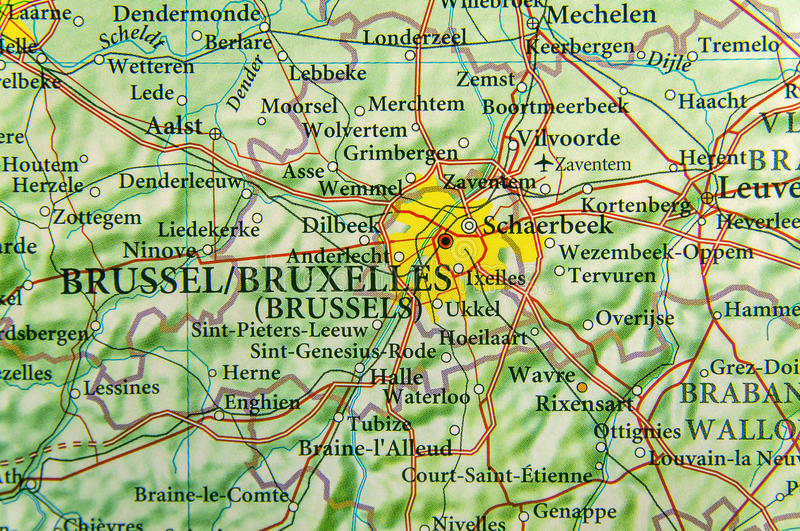 download geographic map of european country belgium with brussel capital stock image image of europe