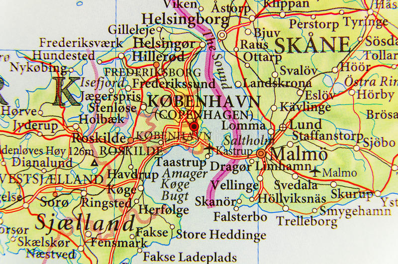 download geographic map of european country denmark with capital city copenhagen stock image image of