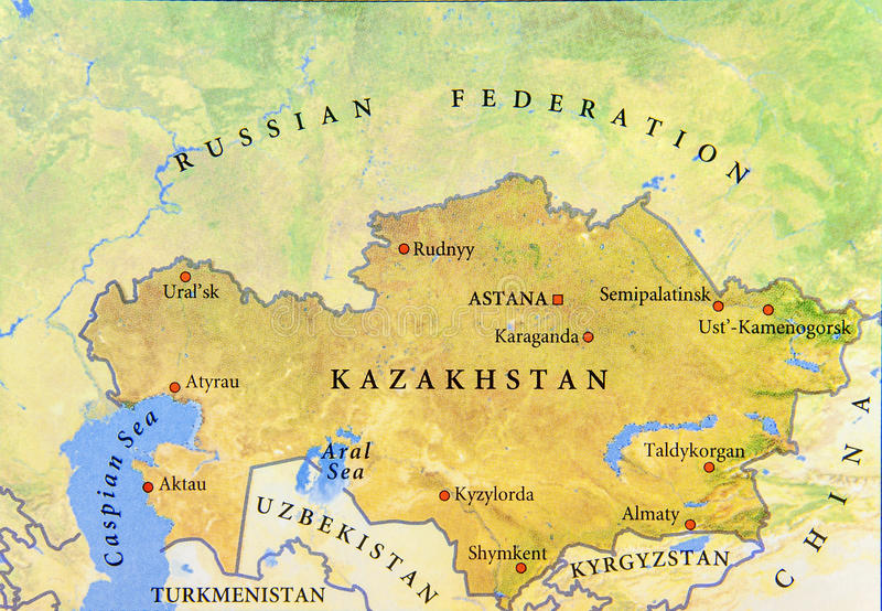 Geographic map of kazakhstan with important cities and other download geographic map of kazakhstan with important cities and other surrounding countries stock photo image gumiabroncs Choice Image