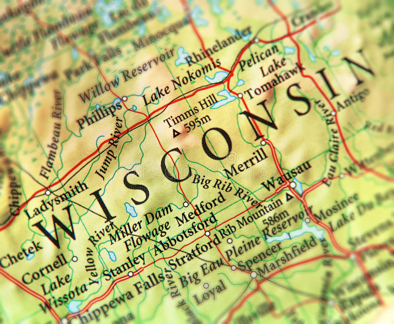 download geographic map of us state wisconsin with important cities stock po image of geography
