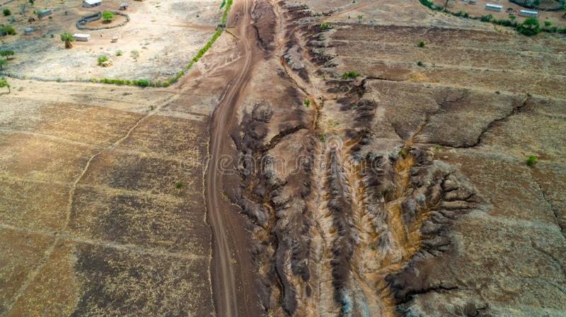 Geographical feature rift valley, Tanzania. Geographical feature rift valley, Arusha, Tanzania stock image