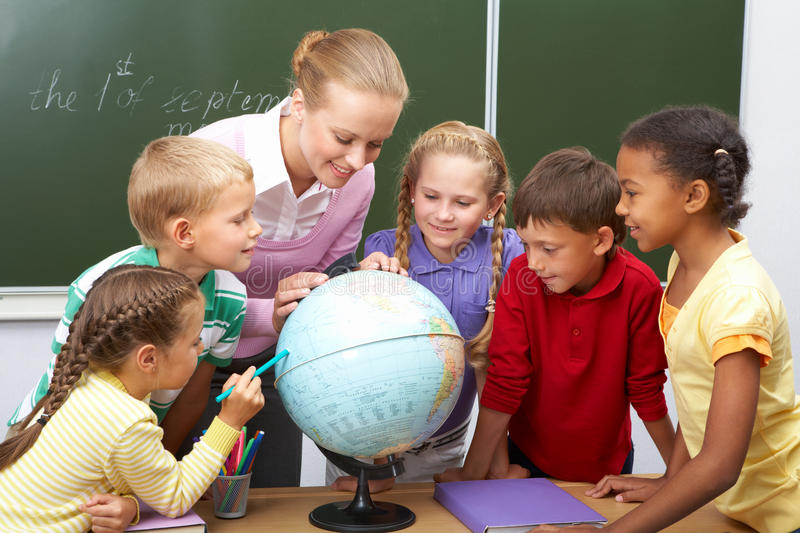 Geography lesson royalty free stock image