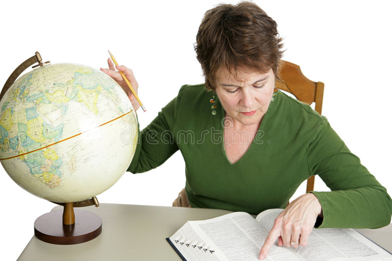 Geography Research royalty free stock photography