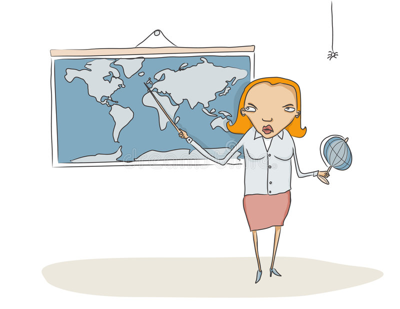 Download Geography teacher stock vector. Image of characters, globe - 6291791