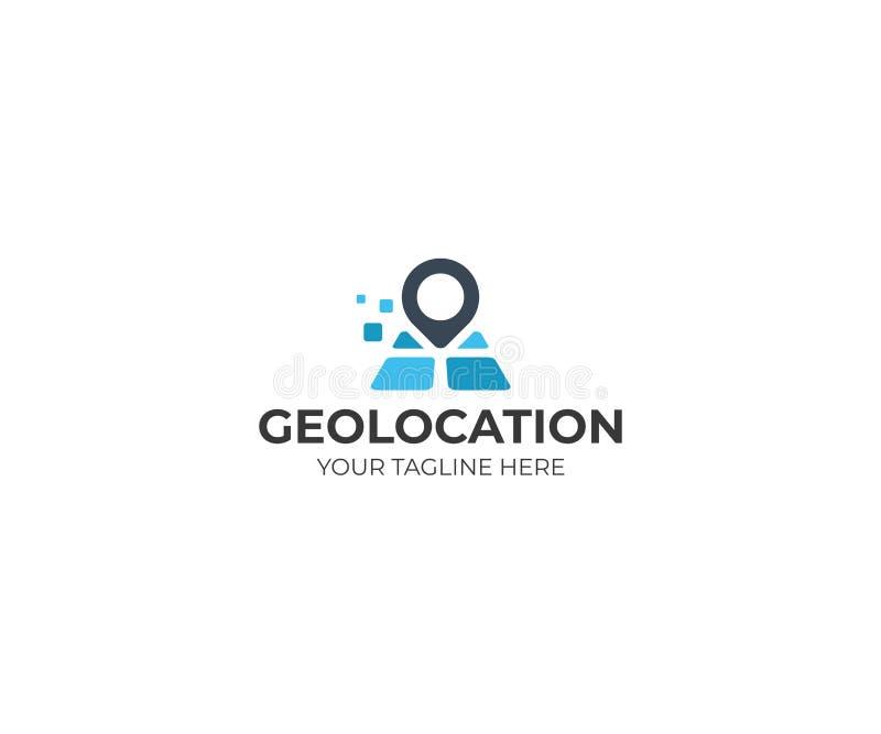 Geolocation Logo Template Design för vektor för ställeöversiktspekare royaltyfri illustrationer