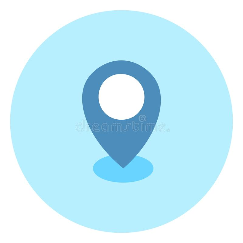 Geolocation Pin Icon Navigation Position vektor illustrationer