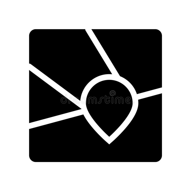 Geolocation symbol  vektor illustrationer