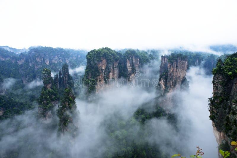Geología y paisaje de Zhangjiajie fotos de archivo libres de regalías