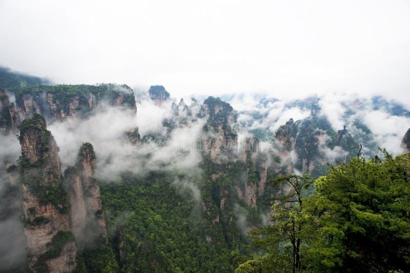 Geología y paisaje de Zhangjiajie imagen de archivo