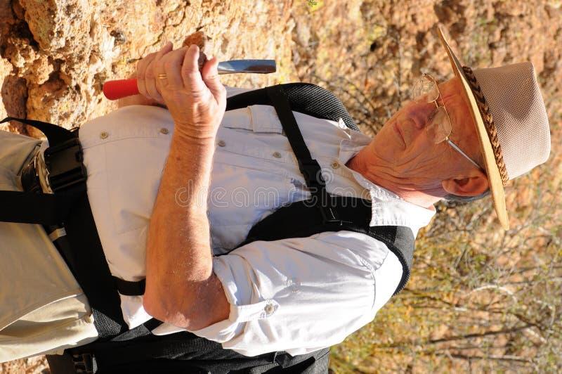 geologa senior zdjęcia royalty free