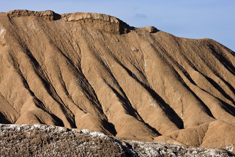 Geologia - erosão de água - deserto de Atacama - o Chile fotografia de stock