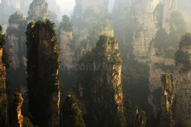 geologic liggandenationalpark zhangjiajie fotografering för bildbyråer