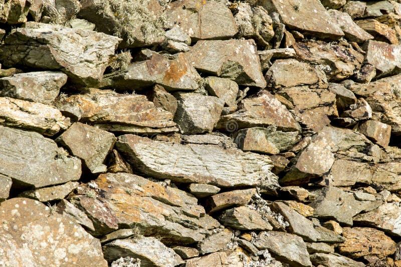 Geological formacja Święta wyspa UK, Walia - skały - fotografia royalty free