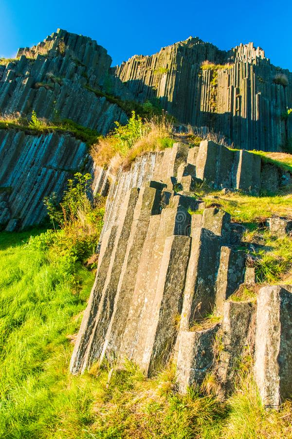 Geological magma zabytek Panska skała, Kamenicky Senov, Herrnhausfelsen, republika czech zdjęcie royalty free