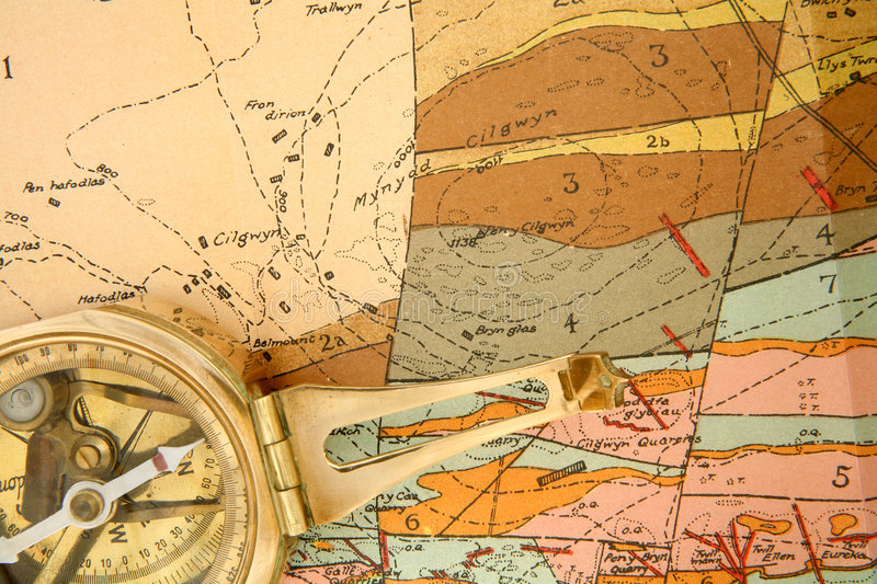Geological mapping stock photos