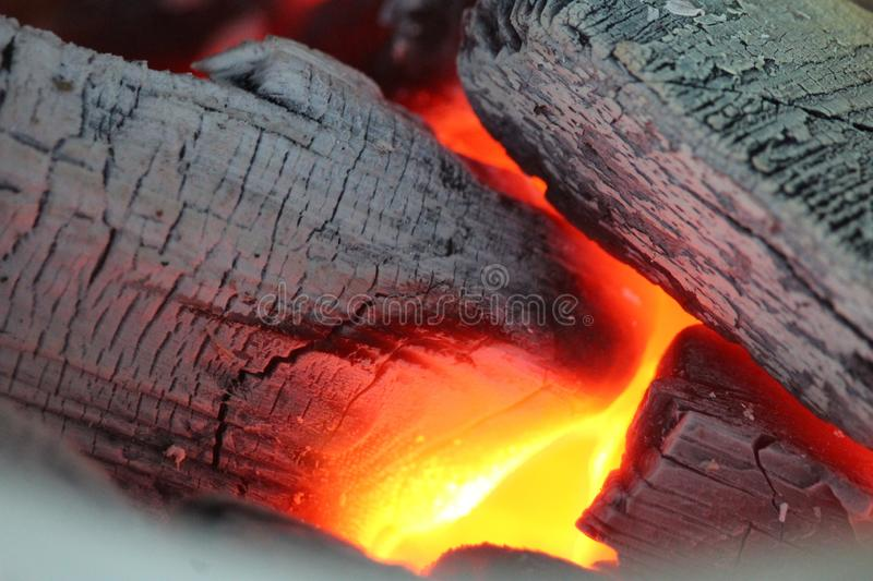 Geological Phenomenon, Heat, Lava, Charcoal stock image