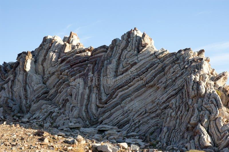 Geological rocks. In Crete Greece stock image